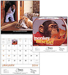 Monkey Mischief Spiral Wall Calendars